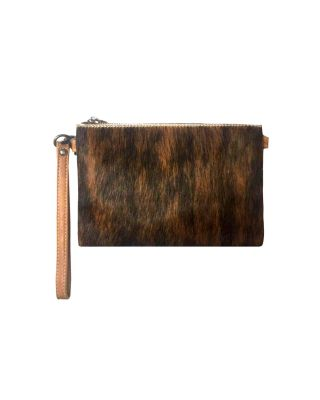 RLH-002 CF MONTANA WEST HAIR-ON LEATHER CLUTCH