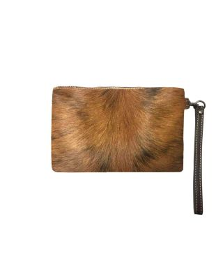 RLH-002 BR MONTANA WEST HAIR-ON LEATHER CLUTCH