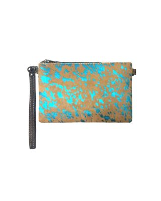 RLH-008 CF MONTANA WEST HAIR-ON LEATHER CLUTCH