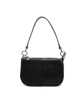 MWL-025 BK Montana West 100% Genuine Leather Calf Hair Clutch/Crossbody