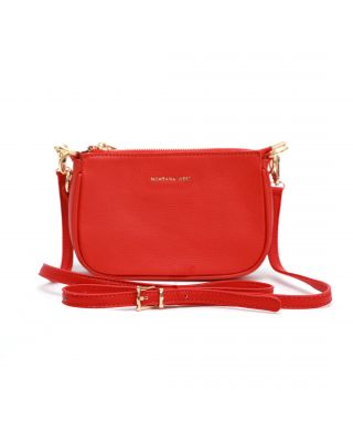 MWL-026 RD Montana West 100% Genuine Leather Clutch/Crossbody