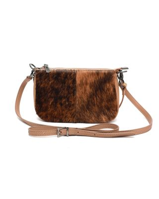 MWL-025 TN Montana West 100% Genuine Leather Calf Hair Clutch/Crossbody