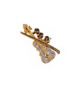 VIOLIN_GD BROOCH