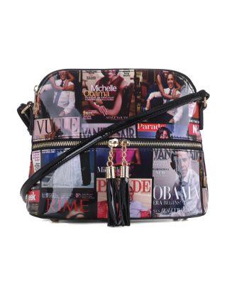 AMMMB3031P BK Fashion Patent Leather Magazine