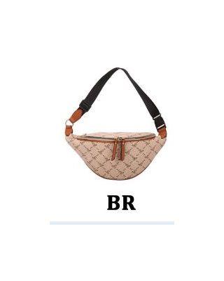 BE4-7248 BR Fashion Multi Pocket Fanny Pack Waist Bag