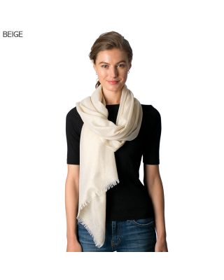 CS8335 METALLIC SCARF, BEIGE