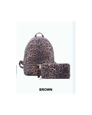 LE1082W  BR WITH WALLET BACKPACK
