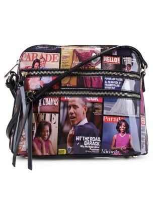 MB5038 BK Fashion Patent Leather Magazine