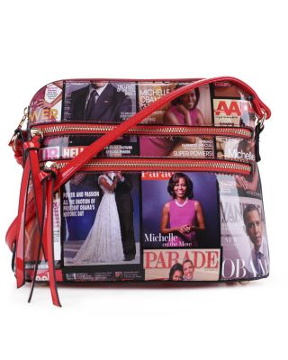 MB5038 RD Fashion Patent Leather Magazine