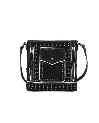 MW1013G-9360 BK Montana West Studded Collection Concealed Carry Crossbody