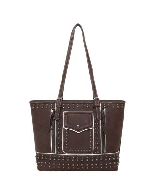 MW1013G-8317 CF Montana West Studded Collection Concealed Carry Tote