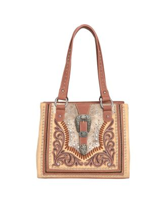 MW1015G-8317 TN Montana West Buckle Collection Concealed Carry Western Tote -