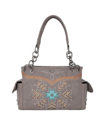 MW1019G-8085 CF Montana West Aztec Collection Concealed Carry Satchel
