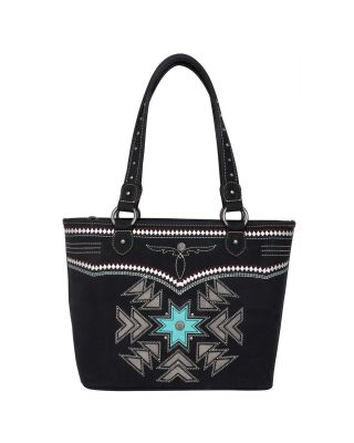 MW1019G-8317 BK Montana West Aztec Collection Concealed Carry Tote