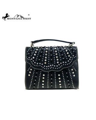 MW858-8360 BK Montana West Bling Bling Collection Sacthel/Crossbody