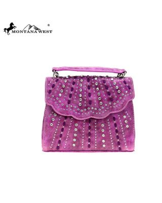 MW858-8360 PP Montana West Bling Bling Collection Sacthel/Crossbody