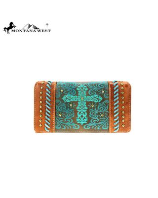 MW884-W010 BR Montana West Spiritual Collection Wallet