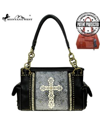 MW884G-8085 BK Montana West Spiritual Collection Concealed Carry Satchel