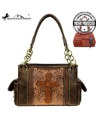 MW884G-8085 CF Montana West Spiritual Collection Concealed Carry Satchel