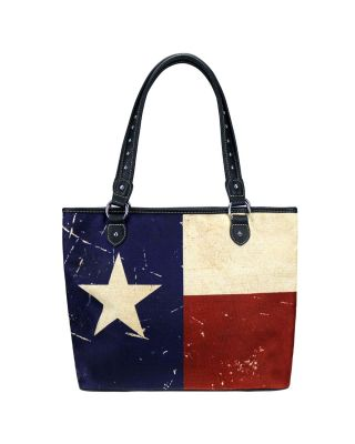 MW934-8112 NV MONTANA WEST TEXAS FLAG CANVAS TOTE BAG