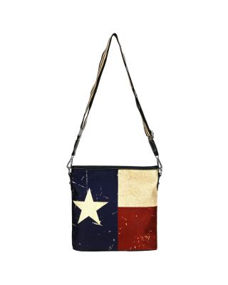 MW934-8360 NV MONTANA WEST TEXAS FLAG CANVAS CROSSBODY