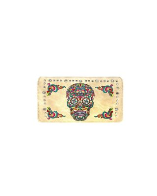 MW941-W010 WT MONTNA WEST SUGAR SKULL COLLECTION WALLET