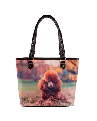 MW965-8112 Pet Printed Dogs Collection Canvas Tote Bag