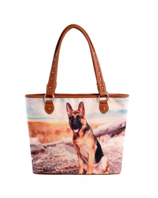 MW970-8112 Pet Printed Dogs Collection Canvas Tote Bag