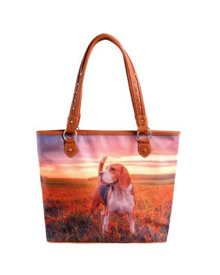 MW971-8112 Pet Printed Dogs Collection Canvas Tote Bag