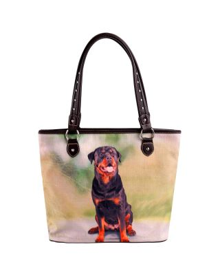 MW973-8112 Pet Printed Dogs Collection Canvas Tote Bag