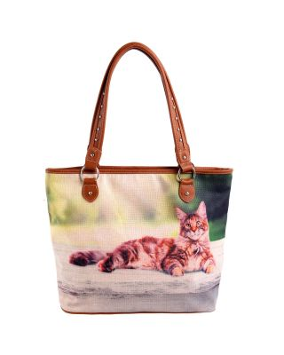 MW989-8112 Cat Collection Canvas Tote Bag