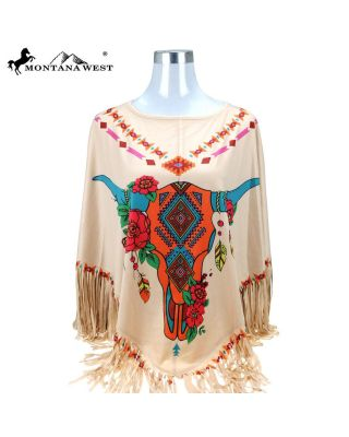 PCH-1680 TN Montana West Native American Collection Poncho
