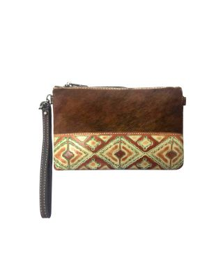 RLH-024 CF MONTANA WEST HAIR-ON LEATHER CLUTCH