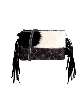 RLH-025 CF MONTANA WEST HAIR-ON LEATHER CLUTCH