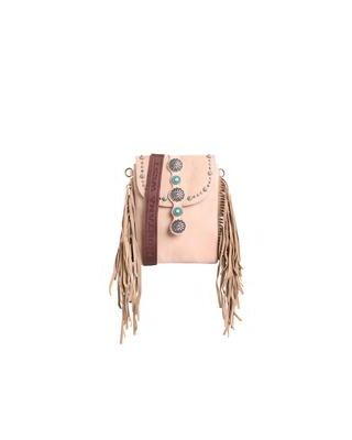 RLL-016 GY Montana West 100% Genuine Leather Fringe Collection Crossbody