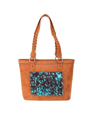 TR119G-8317  BR Trinity Ranch Hair-On Leather Collection Concealed Carry Tote