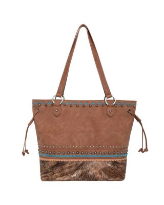 TR120G-8317 BR Hair-On Leather Collection Concealed Handgun Tote