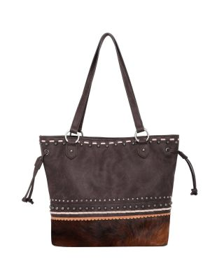 TR120G-8317 CF Hair-On Leather Collection Concealed Handgun Tote