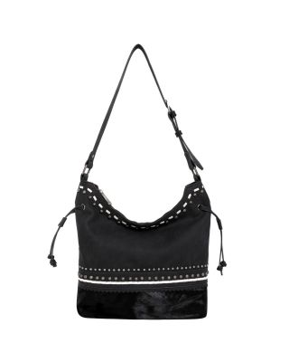 TR120G-918 BK Hair-On Leather Collection Concealed Handgun Hobo
