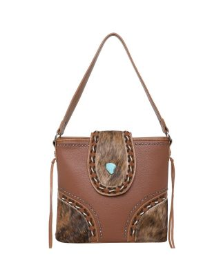 TR122G-918 BR Trinity Ranch Hair-On Cowhide Collection Concealed Handgun Hobo