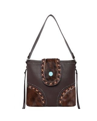 TR122G-918 CF Trinity Ranch Hair-On Cowhide Collection Concealed Handgun Hobo