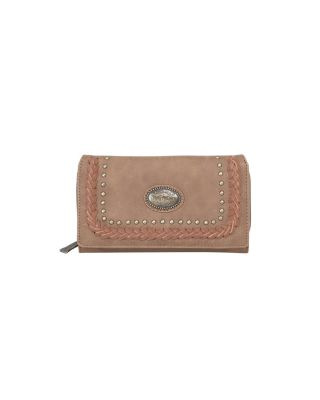 TR128-W010 BR Trinity Ranch Secretary Style Wallet