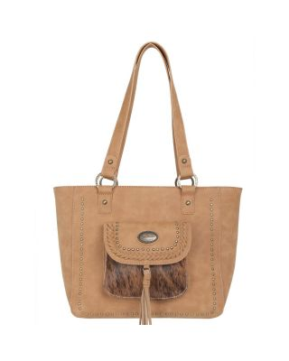TR128G-8317 TN Trinity Ranch Hair-On Leather Collection Concealed Handgun Tote