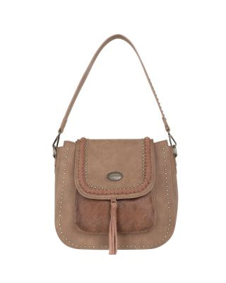 TR128G-918 BR Trinity Ranch Hair-On Leather Collection Concealed Handgun Hobo