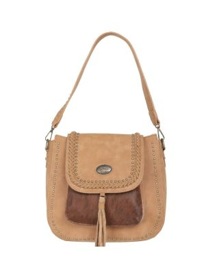 TR128G-918 TN Trinity Ranch Hair-On Leather Collection Concealed Handgun Hobo