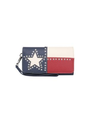 TX14-W018 NV Montana West Texas Pride Collection Secretary Style Wallet