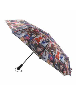 UMB002-MuTi Magazine Cover Collage Auto Umbrella
