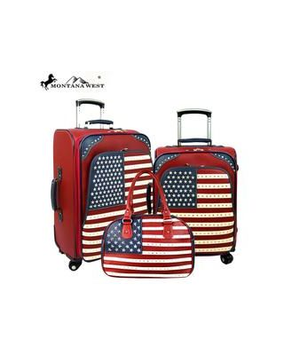 US04-L1/2/3 Montana West American Pride Collection 3 PC Luggage Set