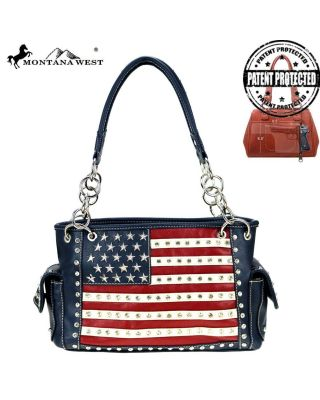 US04G-8085- NV  Montana West American Pride Concealed Handgun Collection Handbag