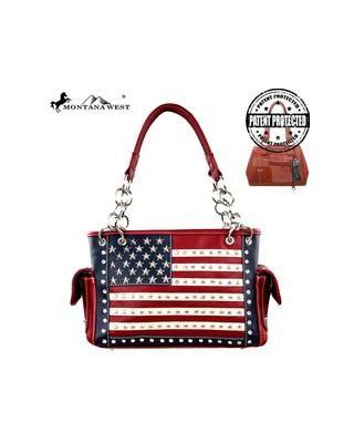 US04G-8085- RD  Montana West American Pride Concealed Handgun Collection Handbag